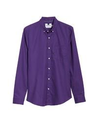 violettes Langarmhemd