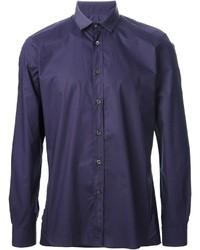 violettes Langarmhemd von Lanvin