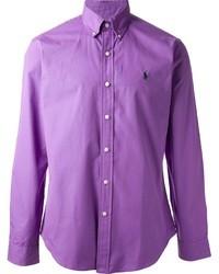violettes Langarmhemd von Polo Ralph Lauren