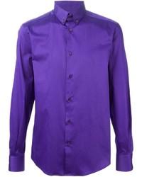 violettes Langarmhemd von Versace