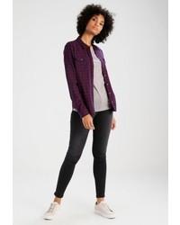 violettes Langarmshirt von Only