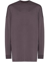 violettes Langarmshirt von Rick Owens