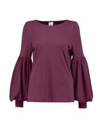 violettes Langarmshirt von Selected Femme