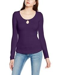violettes Langarmshirt von Tally Weijl