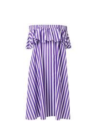 violettes schulterfreies Kleid von Maison Rabih Kayrouz