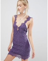 violettes Spitze Freizeitkleid von Free People