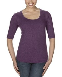 violettes T-shirt von Anvil
