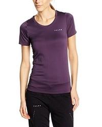 violettes T-shirt von Falke