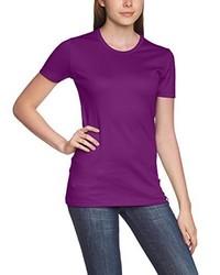 violettes T-shirt von Trigema
