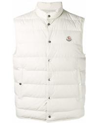 weiße ärmellose Jacke