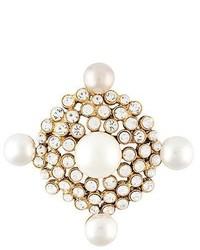 weiße Anstecknadel von Chanel
