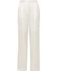 weiße Anzughose aus Seide von Michael Lo Sordo