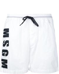 weiße Badeshorts von MSGM
