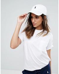 weiße Baseballkappe von Polo Ralph Lauren