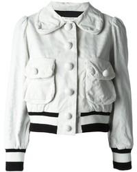 weiße Baumwolle Bomberjacke von Marc Jacobs