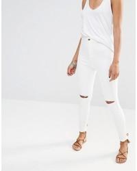 weiße enge Jeans aus Baumwolle von Missguided