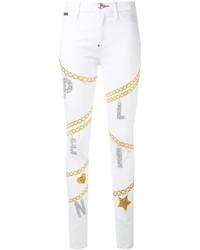 weiße enge Jeans aus Baumwolle von Philipp Plein