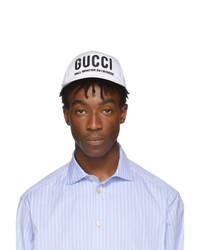 weiße bedruckte Baseballkappe von Gucci