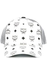 weiße bedruckte Baseballkappe von MCM