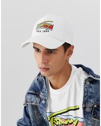 weiße bedruckte Baseballkappe von Tommy Jeans