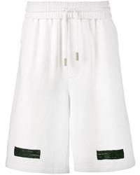 weiße bedruckte Baumwollshorts von Off-White