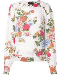 weiße bedruckte Bluse von Isabel Marant