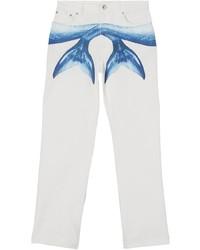 weiße bedruckte Jeans von Burberry