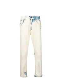 weiße bedruckte Jeans von Gucci