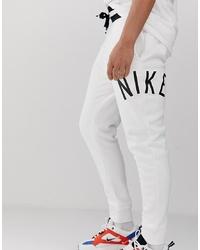 weiße bedruckte Jogginghose von Nike