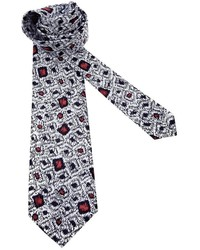 weiße bedruckte Krawatte von Pierre Cardin