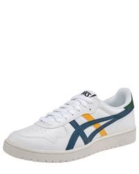 weiße bedruckte Leder niedrige Sneakers von ASICS TIGER