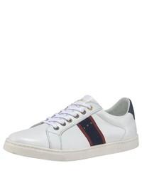 weiße bedruckte Leder niedrige Sneakers von Pantofola D'oro