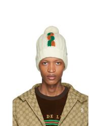 weiße bedruckte Mütze von Gucci