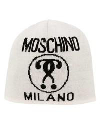 weiße bedruckte Mütze von Moschino