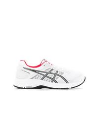 weiße bedruckte niedrige Sneakers von Asics