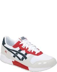 weiße bedruckte niedrige Sneakers von ASICS TIGER