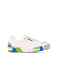 weiße bedruckte niedrige Sneakers von Both