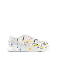 weiße bedruckte niedrige Sneakers von MSGM