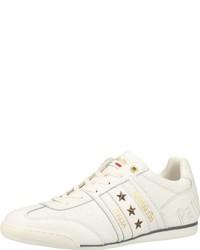 weiße bedruckte niedrige Sneakers von Pantofola D'oro