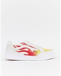 weiße bedruckte niedrige Sneakers von Vans