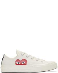 weiße bedruckte Segeltuch niedrige Sneakers