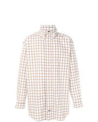 weiße bedruckte Shirtjacke