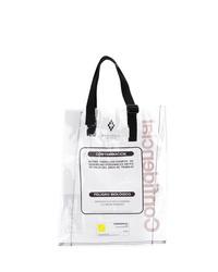 weiße bedruckte Shopper Tasche aus Leder von Marcelo Burlon County of Milan