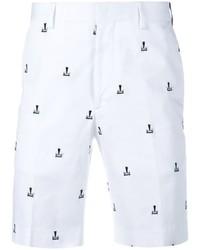 weiße bedruckte Shorts von Fendi