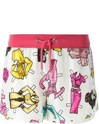 weiße bedruckte Shorts von Moschino