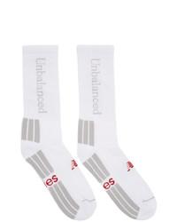 weiße bedruckte Socken von Aries