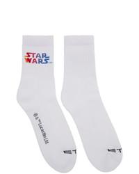 weiße bedruckte Socken von Etro