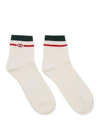 weiße bedruckte Socken von Gucci