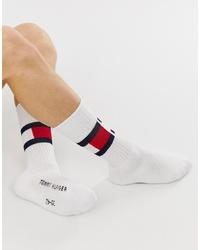 weiße bedruckte Socken von Tommy Hilfiger