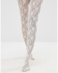 Weiße bedruckte Strumpfhose von Jonathan Aston